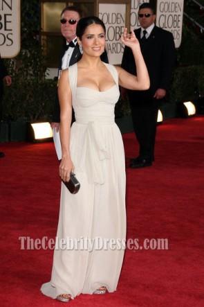 Salma Hayek Chiffon Red Carpet Evening Dress Golden Globe 2009 Celebrity Prom Dress