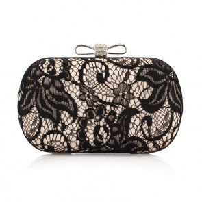 Women Fashionable Evening Bag Lace Flower Print Dinner Purse Handbag TCDBG0107