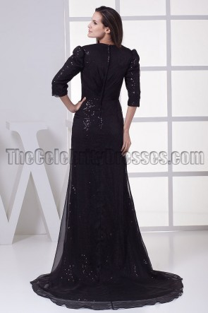 Black V-Neck Formal Gown Prom Evening Dresses