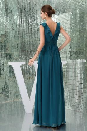 Celebrity Inspired Dark Green Formal Dress Prom Evening Gown