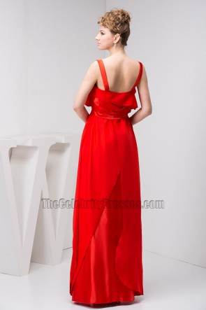 Celebrity Inspired Red Evening Dress Prom Formal Gown