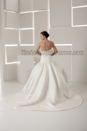 Chapel Train Strapless Sweetheart Ball Gown Wedding Dress