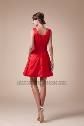 Chic Red A-Line Short Mini Party Homecoming Graduation Dresses