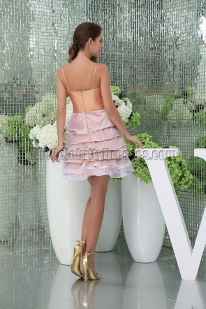 Chic Short Spaghetti Straps Party Homecoming Dresses