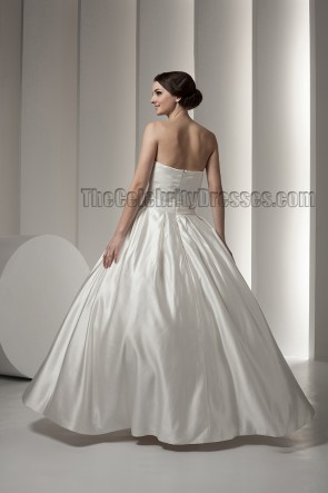 Classic Ball Gown Strapless Floor Length Wedding Dresses