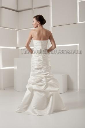Discount Strapless Sweetheart Taffeta Wedding Dresses