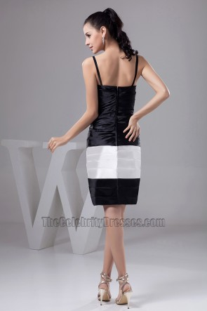 Gorgeous Short Black And White Cocktail Graduation Party Dresses