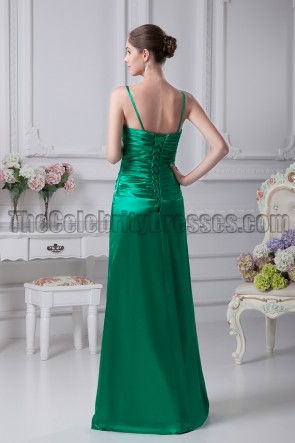 Green V-Neck Beaded Evening Gown Prom Dresses