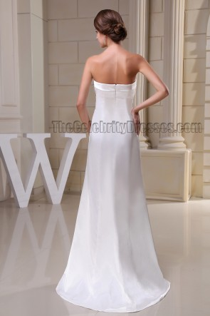 Sheath/Column Ivory Strapless Evening Dress Prom Gown