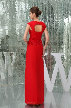 Sheath/Column Red Cut Out Prom Gown Evening Formal Dresses