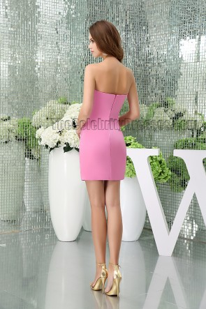 Hot Pink Strapless Sweetheart Party Homecoming Dresses