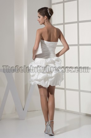 Ivory Short Strapless Sweetheart Homecoming Party Dresses