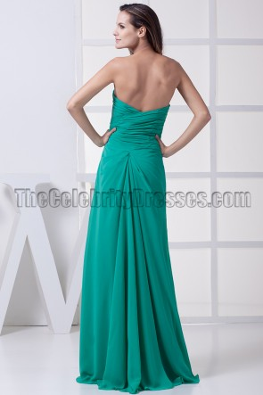 Simple Hunter Strapless Prom Gown Bridesmaid Dresses
