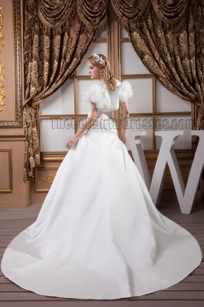 Sweetheart Strapless A-Line Beaded Wedding Dress With A Wrap