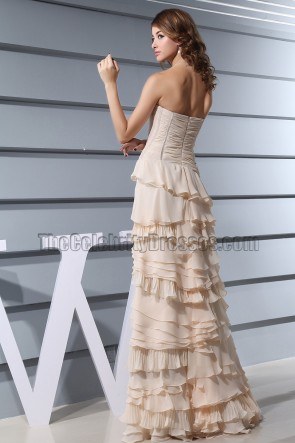 Champagne A-Line Formal Pageant Dresses Prom Gown