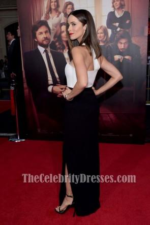 Abigail Spencer アビゲイルスペンサー 白と黒のイブニングドレス「これは私があなたを残すところです」LAプレミア