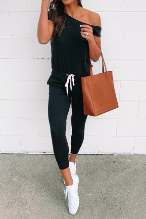 Active Sashes Solid Jumpsuit