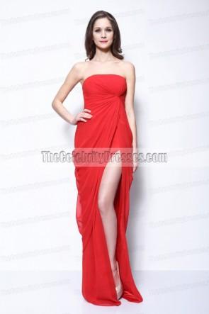 Amber Heard レッドウエディングイブニングドレス「ラム日記」LA初演