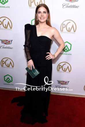 Amy Adams Black One Shoulder Evening Dress Producers Guild Awards 2019