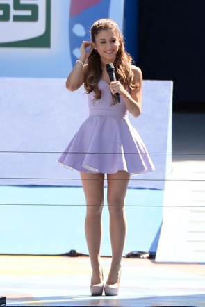 Ariana Grande Short Lavender Halter Party Homecoming Dresses