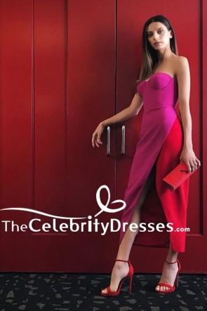 Angela Sarafyanハイスプリットウエディングイブニングドレス「Westworld」プレスデー