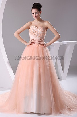 Stunning Strapless Formal Dress Prom Evening Gown