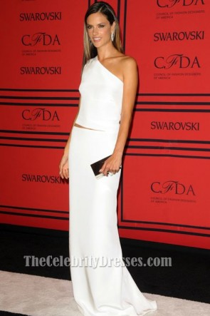 Alessandra Ambrosio White Prom Dress 2013 CFDA Awards Red Carpet