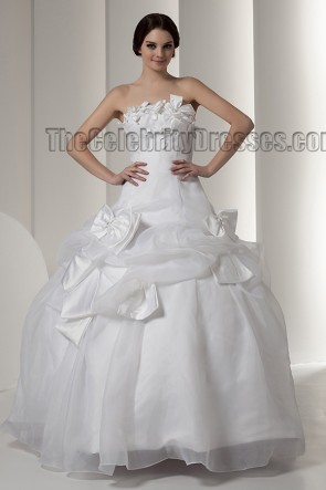 Ball Gown Floor Length Strapless Wedding Dress Bridal Gown