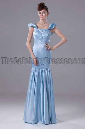 Blue Full Length Prom Gown Evening Formal Dresses
