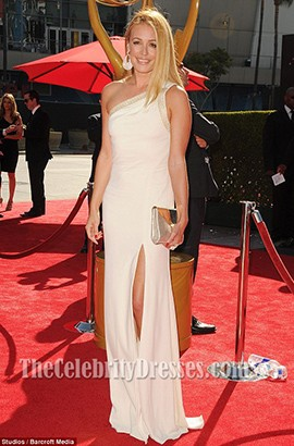 Cat Deeley One Shoulder Formal Dress 2013 Creative Arts Emmy Awards Red Carpet