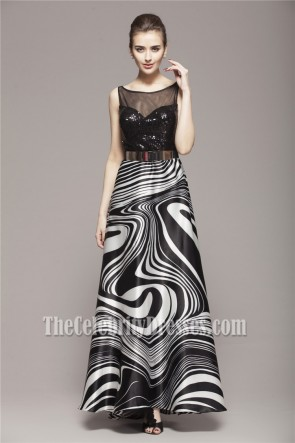 Celebrity Inspired A-Line Floor Length Formal Dress Prom Gown