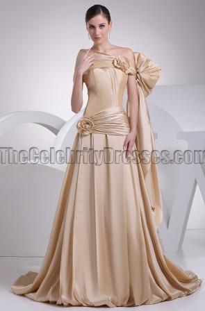 Celebrity Inspired A-Line Off-the-Shoulder Formal Dress Prom Gown