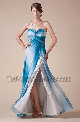 Celebrity Inspired One Shoulder Floor Length Prom Gown Evening Dress