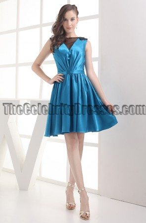 Celebrity Inspired Short Blue Party Homecoming Dresses