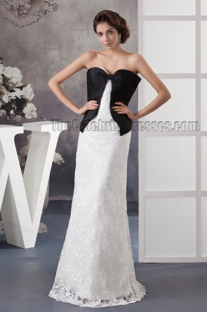 Celebrity Inspired Sweetheart Strapless Lace Formal Dress Prom Gown