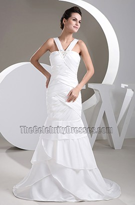 Celebrity Inspired Trumpet /Mermaid Taffeta Wedding Dress
