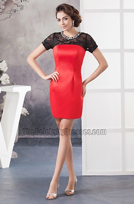 Chic Black And Red Party Graduation Homecoming Dresses