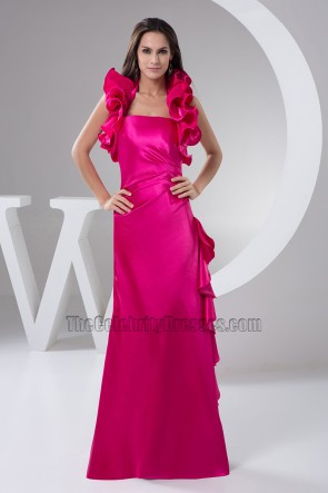 Chic Fuchsia Halter Evening Dress Prom Formal Dresses