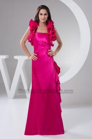 Chic Fuchsia Halter Evening Dress Prom Formal Dresses