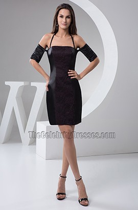 Chic Short Black Off-the-Shoulder Party Homecoming Dresses