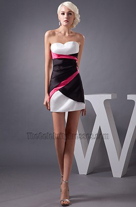 Chic Strapless Sweetheart Mini Party Homecoming Dresses