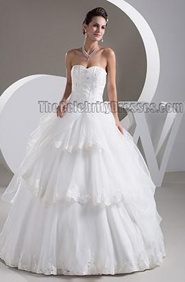 Classic Strapless Sweetheart Ball Gown Floor Length Wedding Dresses