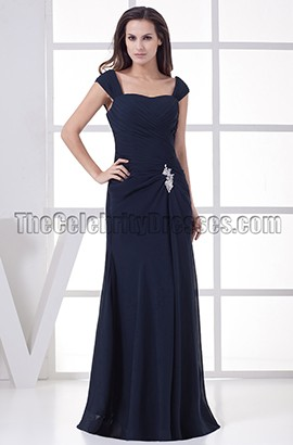 Sheath/Column Dark Navy Formal Dress Prom Evening Gown