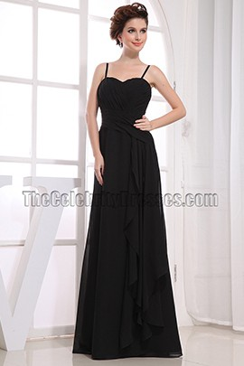 Discount Black Chiffon Prom Gown Evening Formal Dresses