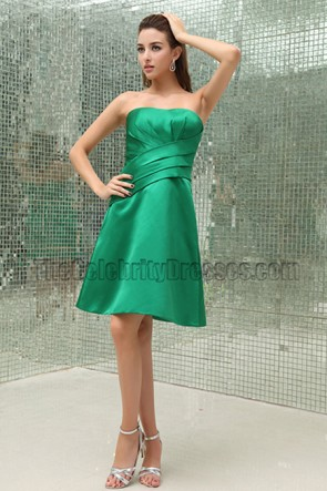 Discount Green A-Line Bridesmaid Graduation Dresses