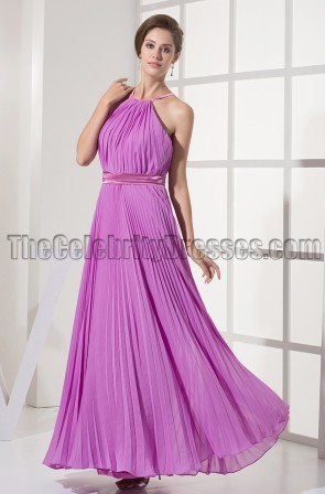 Discount Purple Chiffon Prom Gown Evening Dresses