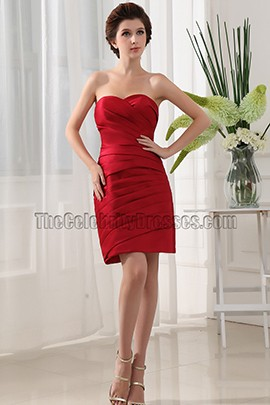 Discount Short Red Sweetheart Party Dress Cocktail Dresses