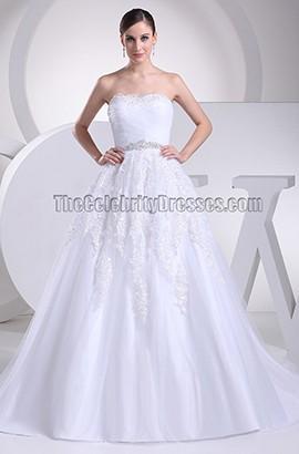 Discount Strapless A-Line Taffeta Wedding Dresses