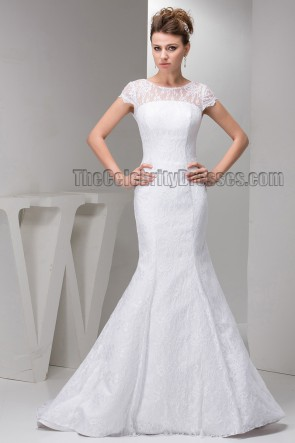 Elegant Trumpet/Mermaid Sweep Brush Train Lace Wedding Dresses
