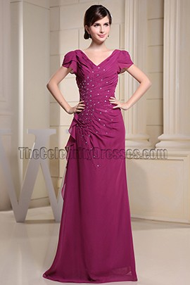 V-neck Hand work Beaded Formal Dress Prom Evening Dresses